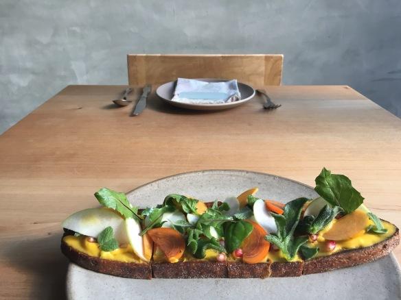 Coastal Toast with Persimmon and Squash_Karen Leibowitz